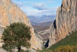 Fotografia del Congost de Mont-rebei des de la Pertusa