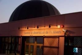 Fotografia de la cúpula de l'observatori del Montsec